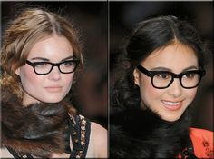 black rimmed glasses - this fad is insane, people who never wore glasses before are coming out with these UGLY things on their faces! It so copy-cat and UN-original people! Think for yourselves once in a while, will you?