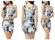 Süßes Sommerkleid mit Szenen aus einem berühmten Hollywood Film ;-)