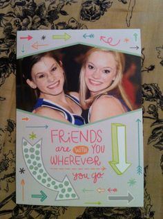 @KristenLane15 created a sweet welcome back card for her best friend.