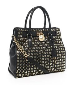 Michael Kors Lg Hamilton Grommet Tote in black... I will be pulling this baby out of the closet for fall very soon!