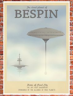 Retro Travel Poster Star Wars Bespin MANY by TeacupPiranha