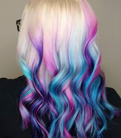 Colorful dip dye hair