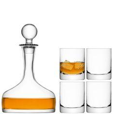 Bar Whisky Decanter & Glasses Set- LSA Glassware – The Golden Sheaf Gallery