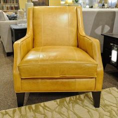 yellow leather chair