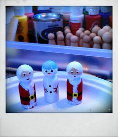 Santa/Snowman peg