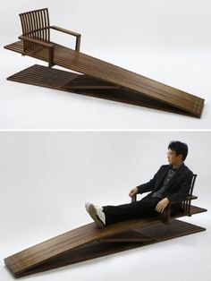 """Ducking Lounge Chair"" designed by  Jung Myung Taek - photo on oddee"