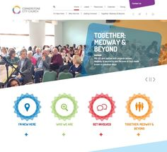 Cornerstone City Church is a community of people that are all on a journey together under the banner of Jesus Christ. Church Logo, Church Design, Creative Inspiration, Jesus Christ, Web Design, Banner, Journey, Community, Graphics