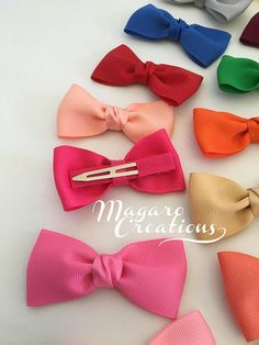 3 bows girl hair bows women hair bow baby hair clip school bows hair bows hair clips girl bows bow h Diy Bow, Diy Ribbon, Ribbon Bows, Ribbon Flower, Ribbon Hair, Ribbon Colors, Grosgrain Ribbon, Fabric Flowers, Ribbons