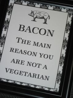 Kitchen Print  Print Kitchen Art Print Wall Art Recipe Book Saying Print Quote Pig Bacon. $10.00, via Etsy.