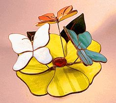 Stained Glass Butterflies Music Box Kit