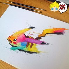 #Pikachu.   #Artista : #LisaMarieMelin