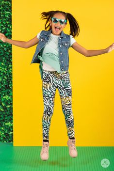 kids leggings in every pattern you can imagine! let them express themselves with stripes, plaid, animal print, critters, food- something for everyone! sizes range from toddler (2-4), preschool and primary age (6-8), and pre-teen (10-12) for $20! We're a Canadian small business in our 6th year, SweetLegs are lovingly designed and promptly shipped out of Kelowna, BC! Sweet Fashion, How To Wear Leggings, Sweet Style, Style Guides, Cool Outfits, Preschool, Capri Pants, Product Launch, Teen