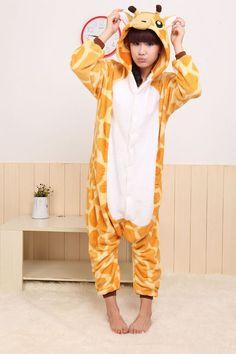 Size S Unisex Adult Onesie Kigurumi Pajamas Anime Cosplay Costume Giraffe f8e5fa737ab67