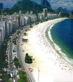 The water on this beach in Rio is warm, but refreshing. This is Copacabana.