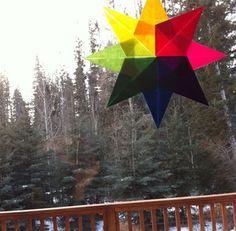 Make Waldorf-Inspired Paper Window Stars