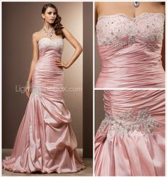 Trumpet/Mermaid Sweetheart Court Train Taffeta Wedding Dress - USD $ 299.99. -  For more amazing Finds visit us at http://www.brides-book.com/#!brides-book-outlets/ck9l and remember to join the VIB Club  for amazing offers from all our local vendors.