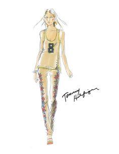 Tommy Hilfiger Spring Summer 2014 #fashion #sketch #illustration