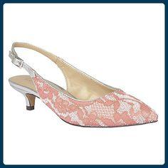 Lotus Kohar Damen Sling Back Schuhe 4 UK/37 EU Coral Lace H7hxGNO