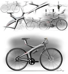 Velo Design, Bicycle Design, Bicycle Sketch, Bicycle Rims, Urban Electric, Bicycle Brands, Industrial Design Sketch, Bike Style, Cool Bicycles