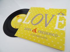 Wedding invitation - theme Music Convite de casamento - tema música