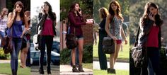 Elena Gilbert is sporting a Jack Georges Messenger Bag in Season 5 of The Vampire Diaries. It's the perfect bag for Nina Debrov's character's daily adventures at college. The North/South Messenger Bag from the Spikes & Sparrow collection has everything the fledgling vampire would need to tackle her college course load, keep her essentials organized, with room for anything she may need to deal with her hot headed boyfriend Damon on a regular basis.