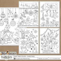 Print and Color :: Christmas