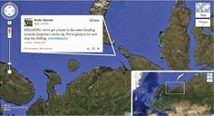 Greenpeace Arctic Sunrise entering door Russische kustwacht bij Gazprom olieplatform Prirazlomnaya - Google+