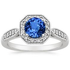 This 18K White Gold Sapphire Victorian Halo Ring is perfect, and my birthstone as well as wedding anniversary. Perhaps it should be on my Wish List Board. :-)