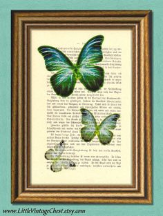 BUTTERFLY EFFECT   Dictionary art Vintage by littlevintagechest, $7.99