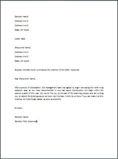 27 best letter sample images on pinterest legal forms cv template