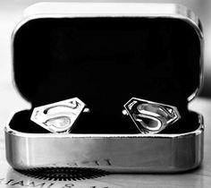 Superman Cufflinks - http://thegadgetflow.com/portfolio/superman-cufflinks-40/