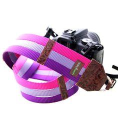 tri color nylon camera strap, like bangles for your camera!