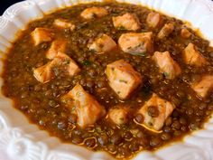 Cocinando con Lola García: Lentejas guisadas con salmón