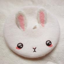 Hand made item, days make to order :) There's bunny on the cat side, you can custom your name if leave note :) Material: made of wool DO NOT Wash please! Color: White Size reference: Fit for head cir of Kawaii Fashion, Lolita Fashion, Cute Fashion, Beautiful Rabbit, Kawaii Accessories, Accesorios Casual, Hat Hairstyles, Cute Hats, Kawaii Clothes