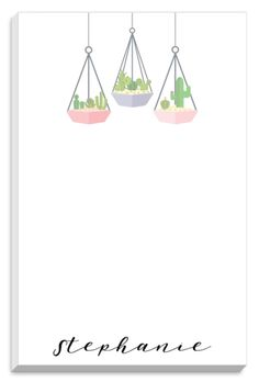 Hanging Succulents Notepads