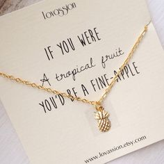 Pineapple Necklace gold pineapple necklace pineapple by Lovassion
