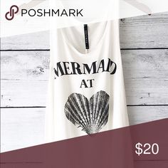 Mermaid At Heart Tank Mermaid At Heart Tank. Sizes S, M, L. Brand New. LF Tops Tank Tops