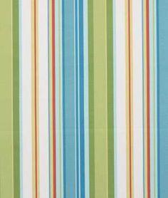 Robert Allen @ Home Stripe Cabana Sky Fabric - $11.9 | onlinefabricstore.net