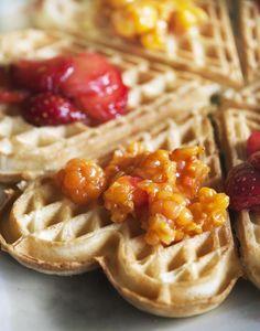 Quick Scandinavian waffle recipe- tone down the cardamon a little, nice flavour, texture a bit ordinary.