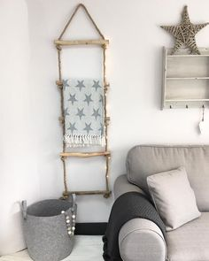 I just LOVE this! Its something a bit different and so Scandinavian in style! This is beautiful quality, very solid and strong. Perfect for hanging those winter blankets and pretty when wrapped in fairy lights. Dimensions: H: 145cm W: 44cm D: 5cm