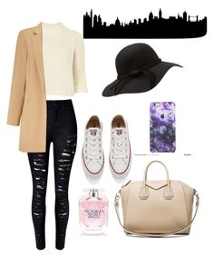 """Om my way to London"" by anicute on Polyvore featuring Topshop, Converse, Givenchy, Victoria's Secret, Miss Selfridge, women's clothing, women, female, woman and misses"