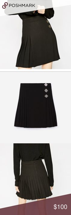 The Kooples Black pleated skirt with Tags Perfection Condition. New with tags. Size XS. The Kooples Skirts Midi
