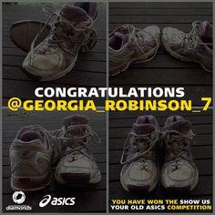 Our winner announced on Instagram who has won a brand new pair of Asics shoes! #DiamondsAsics