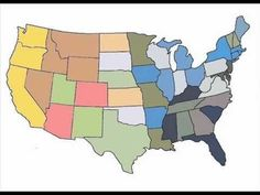 Memorize the 50 States using Multiple Intelligences (song, picture book, gestures) Us Geography, Geography Lessons, Cc Cycle 3, States And Capitals, Multiple Intelligences, 5th Grade Science, School Daze, Smarty Pants, 50 States