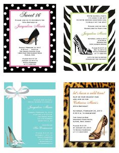 Stiletto+High+Heel+Shoe+Invitations++zebra+leopard+by+shadow090109,+$1.00
