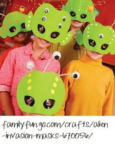 These masks are adorable. Other fun things to do with a space theme can be found on this blogspot.