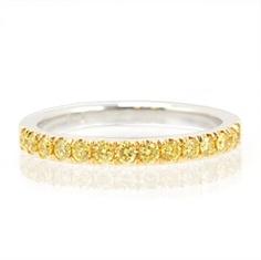 Vivid Yellow Diamond Wedding Band. Designer Jewelry   Bulrush