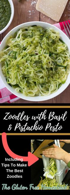 Easy Pesto Sauce Recipe, Homemade Pesto Sauce, Zucchini Noodle Recipes, Zucchini Noodles, Veggie Noodles, How To Make Zoodles, Cooking Zoodles, Pesto Zoodles, Pasta Substitute