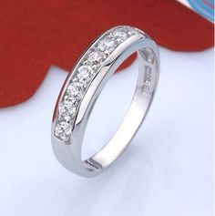 White sterling silver ring