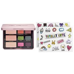 Shop Too Faced's Totally Cute Palette at Sephora. It features nine everyday to neutral eyeshadows and stickers to decorate your palette.